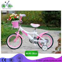 Hot girl picture city bike_Cute mini kids bike for girls_Bicycle with Basket Pink