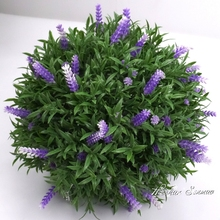 wedding decoration artificial cheap plastic hanging flower topiary balls lavender balls for garden hotel decor