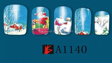 Fashional New Arrival Christmas Gift Cheap Nail Stickers Nail Art water transfer nail sticker