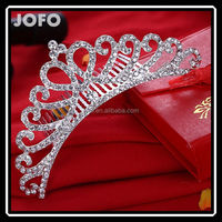 Korean Style New Ladies Simulated Diamond Wedding Tiara Crown Women's Hair Accessories Factory Direct Sell