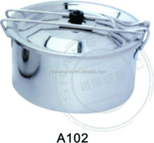 disposable metal picnic Cooking pot with Collapsible handle