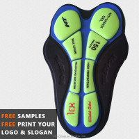 Sublimation Printed Chamois Shorts Coolmax Cycling Pads