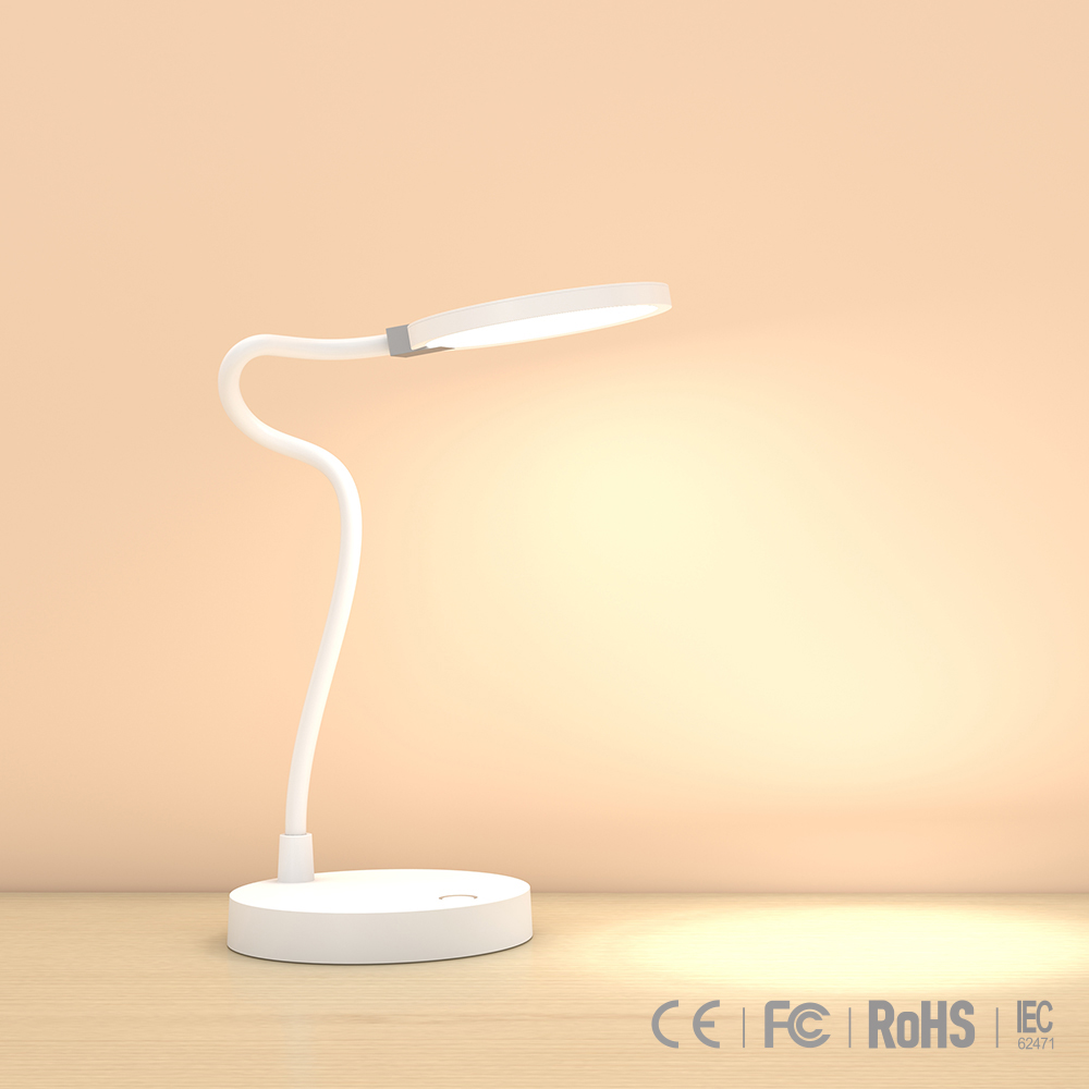 Multifunctional wireless desk lamp work as power bank with two adaptive USB charging ports CE FCC ROHS