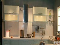 2014 OPPEIN Flashing Lacquer Kitchen Cabinet White Modern Series