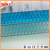 UV Protection Polycarbonate Honeycomb Sheet 100% GE Lexan PC Resin Roofing Glazing Factory Price Panels Hot Sale