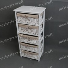 natural wicker drawers storage cabinet European living room furniture