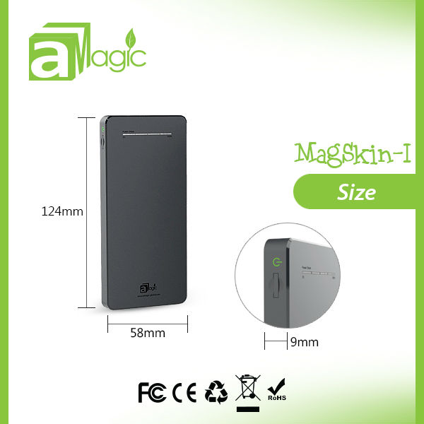 MagSkin-I 6500mAh 2.1A dual usb output ultra slim power bank 2013