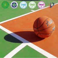 Seamless waterproof basketball court flooring