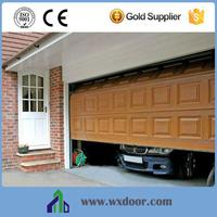 Custom size remote control garage doors panel with pedestrian door