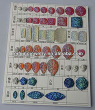 2017 new designs colorful resin stones