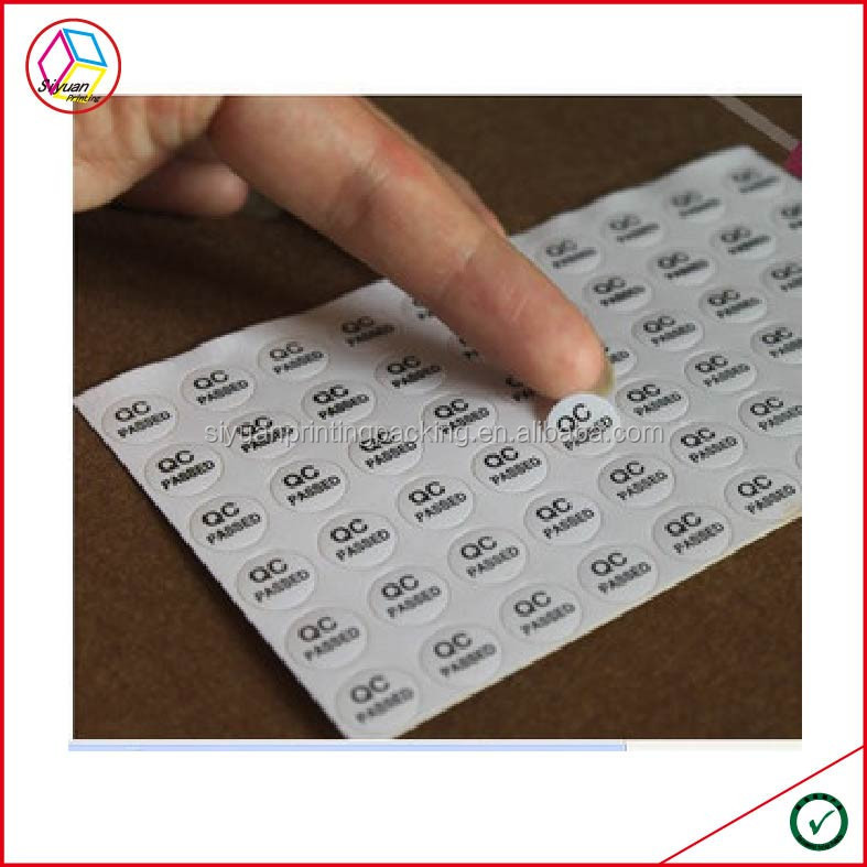 High Quality QC Pass Label