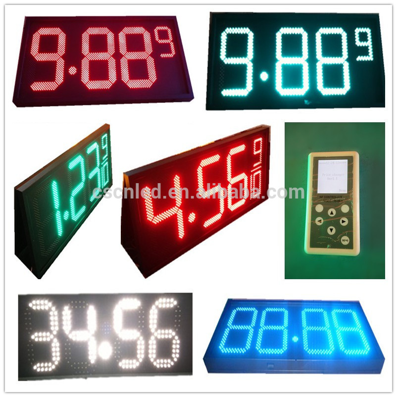 400mm digits gas price led display