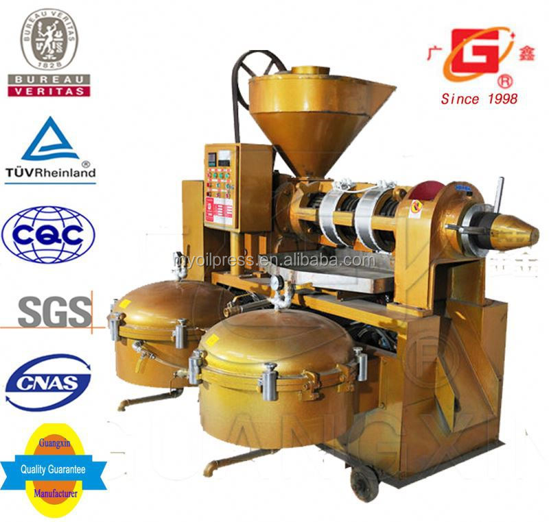 GUANGXIN YZLXQ140CJ 2105 top sales oil extractor muti-function oil squeezer rapeseed oil