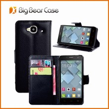 Flip leather case cover for alcatel one touch idol mini ot 6012 6012x 6012a 6012w 6012d 6012e