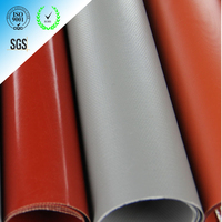 High temperature resistant silicone rubber coated fiberglass fabrics with superior release characteristics