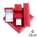 2017 New Plastic red jewelry Box jewelry Packaging Box Wholesale