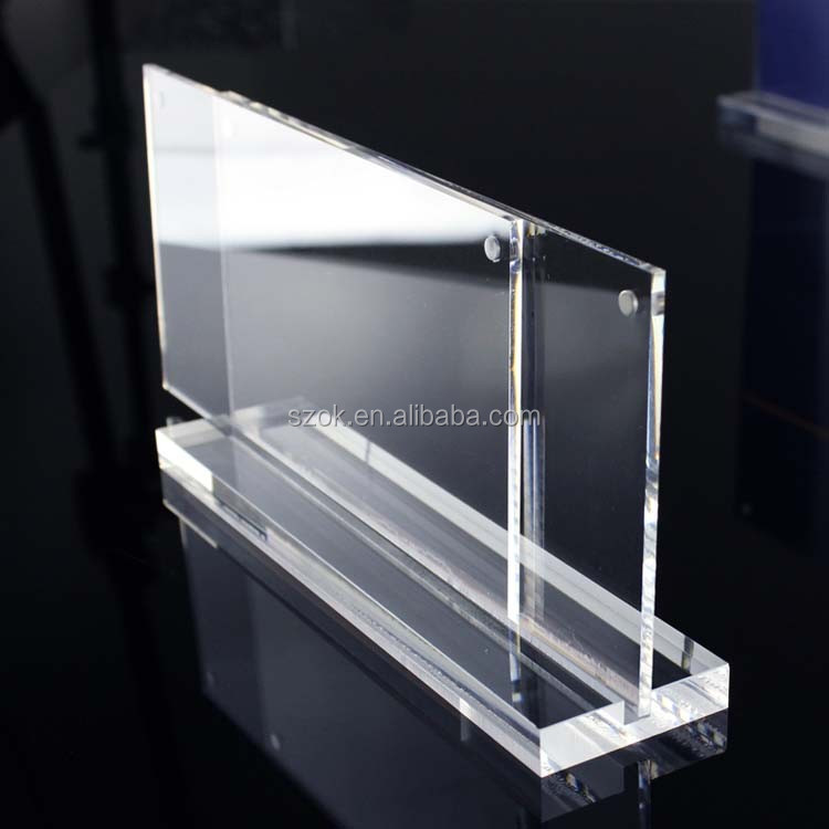 Alibaba Store Magnetic Clear Acrylic Sign Holder/table menu holder