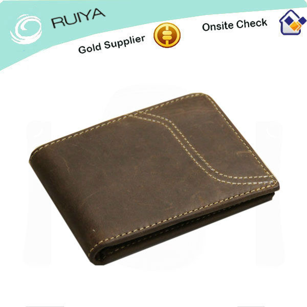 2017 Brand New Money Wallets For Male-Classic Brown Color