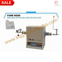 1600 Degree Compact Hydrogen Gas Tube Furnace with 42mm Alumina Tube and Hydrogen Detector & Shutdown Valve - GSL-1600X-42HG