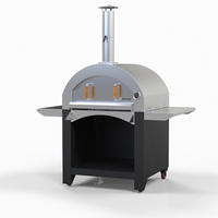 Baker Stainless Steel Wood Fired Pizza Oven all insulation