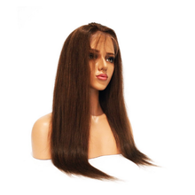 High Quality Natural Color Long Straight Human Hair Wig Cosplay Full Lace Wig