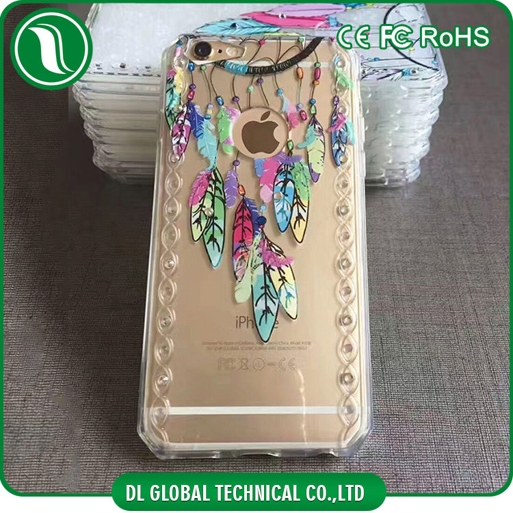 Angel door 3D printing mobile phone back cover for iPhone 7 case,for samsung phone case