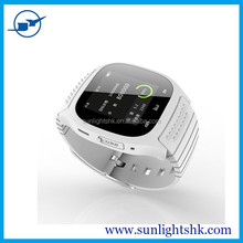 2015 New waterproof M26 smart watch with LED Display / Dial / Alarm / Music Player / Pedometer for Android IOS HTC Mobile Phone