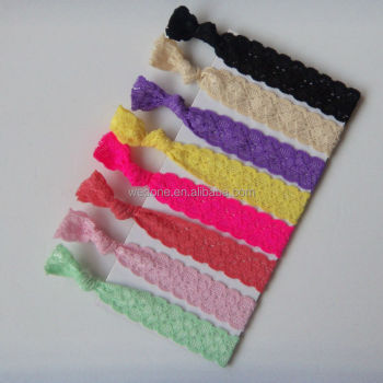 Lace Elastic Knotted Hair Tie Wristbands