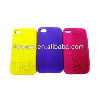 Waterproof 3D logo silicone case for iphone4/4S