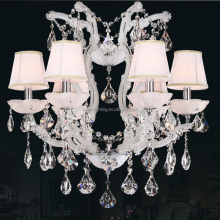 Decorative Suspend Maria Theresa Lead Crystal Lighting Chandeliers Modern White Hanging Pendant Light CZ6017/6