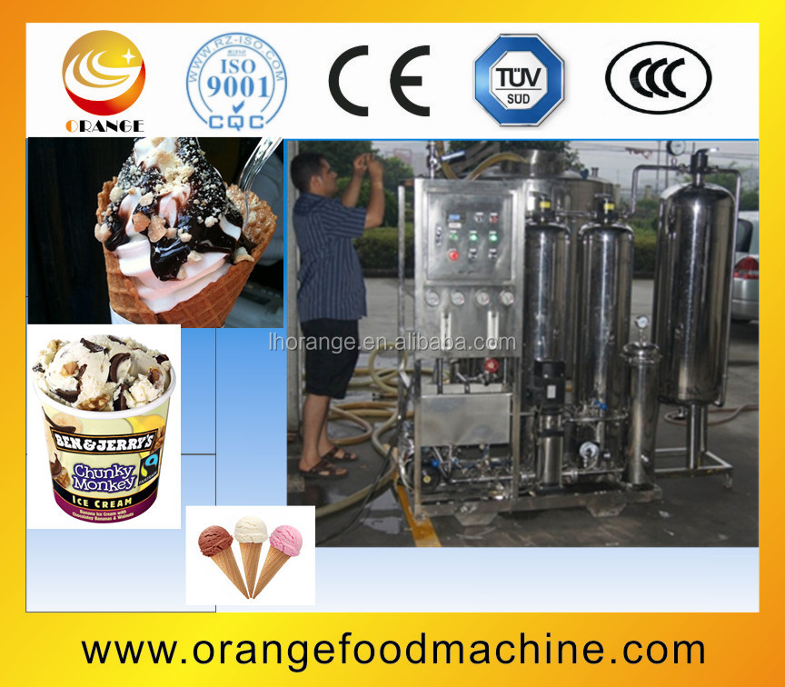 High efficiency customized paper cup ice cream production line(2000L/Hr)