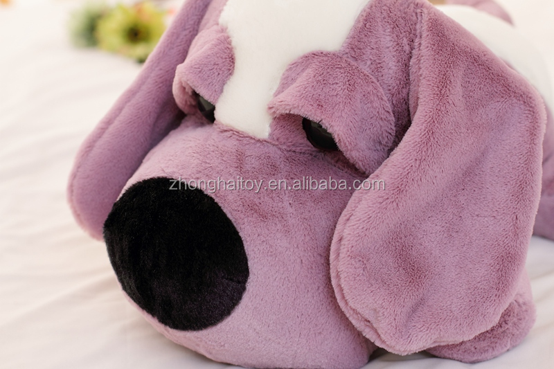 Factory direct sale big ears and big eyes plush stuffed dog/big eyes plush dog toy farm animal cartoon dog