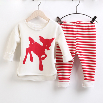 2017 Hot Sale new born baby girl boutique clothing sets for Christmas