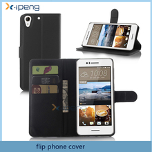 best selling products organizer wallet design PU Leather mobile phone case flip cover for htc desire 728