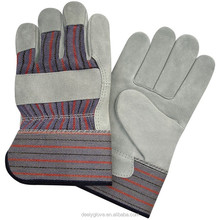 Candy stripe chrome leather glove