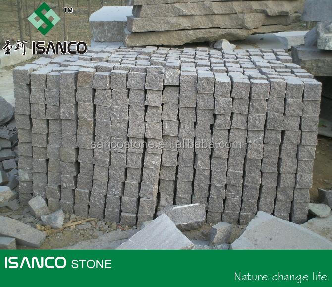 cube stone G354 granite paving stone small slabs from China suppliers