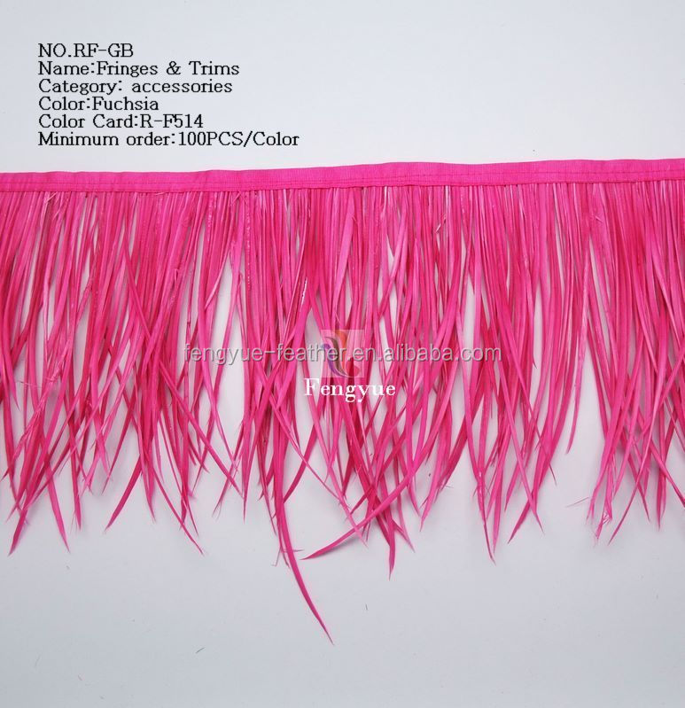 Goose biot feather fringe trimming