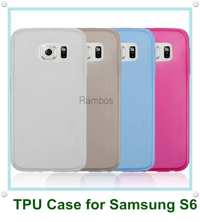 Mobile Phone Transparent Clear Soft Silicon TPU Gel Rubber Cover Case for Samsung Galaxy S6