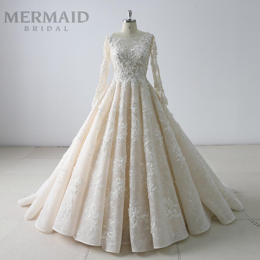 Mewah Lengan Panjang Muslim Arab Saudi Wedding Dress 9 - Buy Gaun  Pengantin Muslim,Arab Saudi Pernikahan Gaun Pernikahan Gaun Muslim Lengan  Panjang