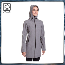 Ladies urban red softshell jacket waterproof and breathable jacket