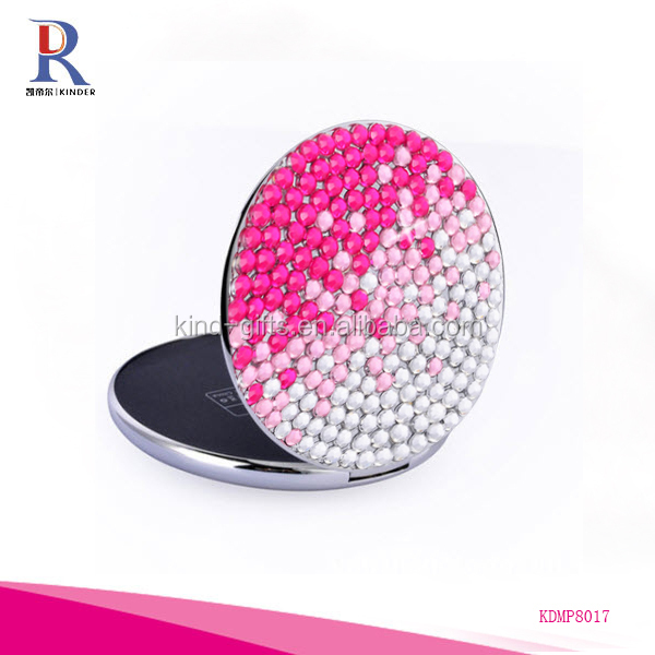 Fashional Round Shape Diamante Power Bank For Girl