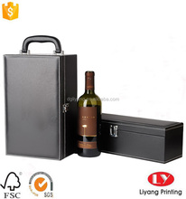 Luxury cardboard box with handle for wine packaging