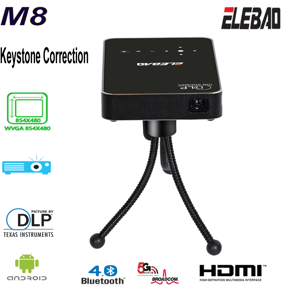 M8 LED tv projector support 3D video 1080p projector with otg,android OS mini home theater digital projector