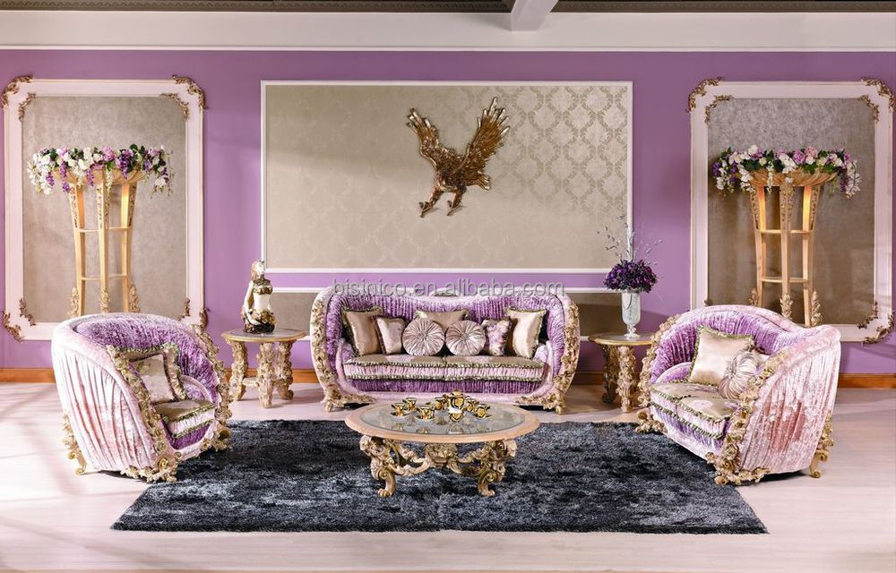 Luxury italian royal living room furniture sofa classical rose wooden carving sofa set new - Add luxurious look home royal sofa living room ...