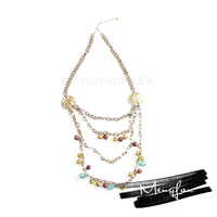New pearl chain necklace designs bridal,fashion long chain necklaces,fancy long chain necklace