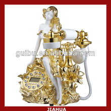 beatiful women golden telephone set for home decoration