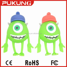 Chinese manufacturers Michael Wazowski cartoon usb flash drive with full capacity 2gb 4gb 8gb 16gb 32gb 64gb 128gb