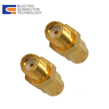 Gold-plated SMA male to SSMA female coaxial adapter