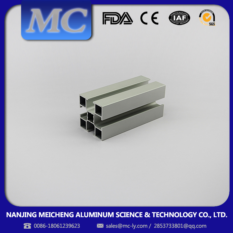 MEICHENG-ECO Material New Generation Process hollow extruded industrial aluminum profile