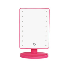 New design compact mirror with led light and led table mirror with touch screen sensor switch for light up bathroom mirror